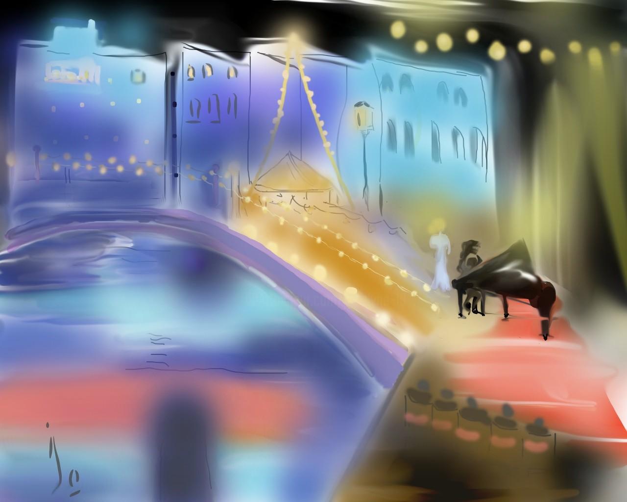 Jocelyne Dupuis (Jo Dupuis) - 'Venise en fête' 6 x 8 in.