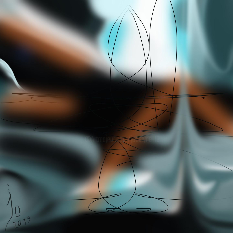 Jo Dupuis - 'Reflets de nuit' 36 x 36 in.