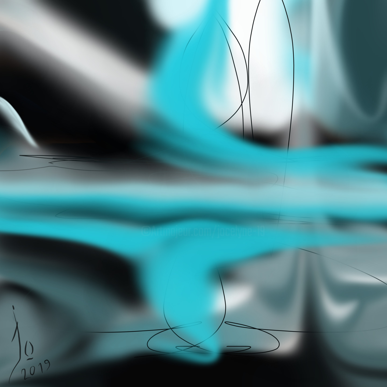 Jo Dupuis - 'Reflets' 36 x 36 in.