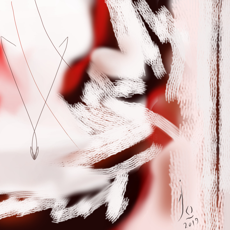 Jo Dupuis - 'Essai 03' 36 in. x 36 in.