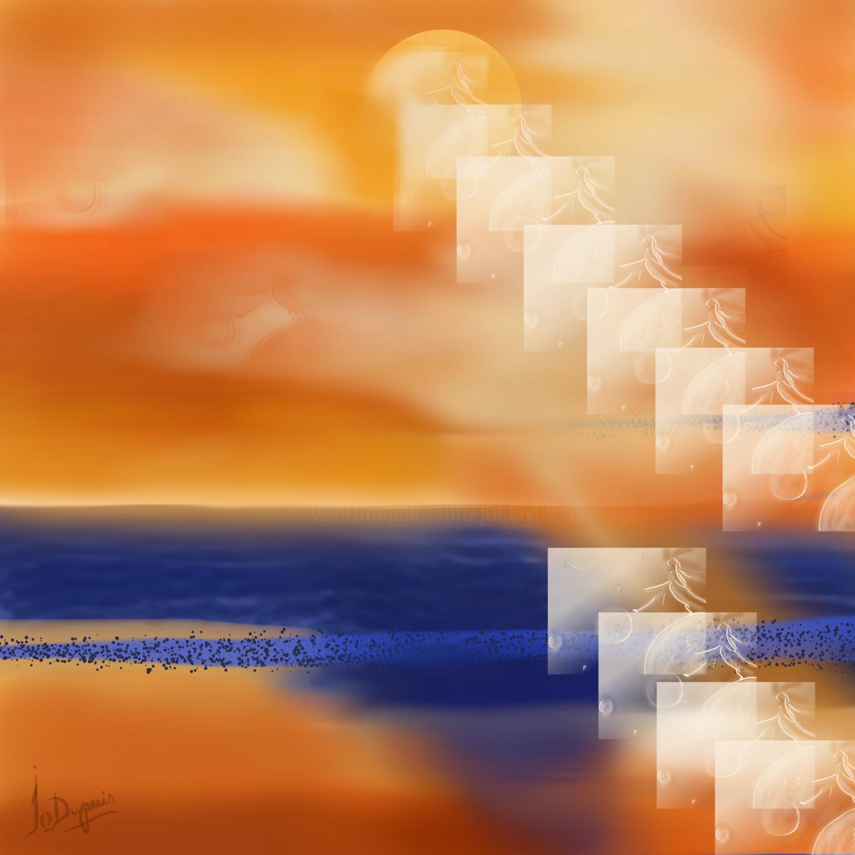 Jocelyne Dupuis (Jo Dupuis) - Couleurs 'Space'  36x36in (90x90 cm)