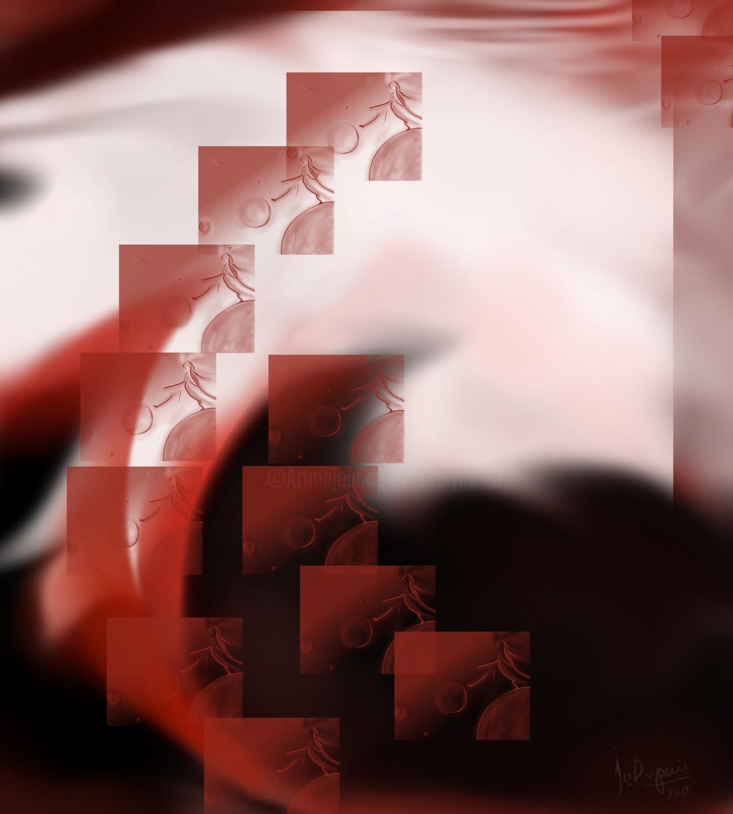 Jo Dupuis - 'Statique et cinétique' 36 x 40 in.