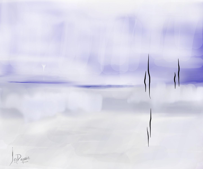 Jocelyne Dupuis (Jo Dupuis) - 'Horizon' 48 x 40 in.