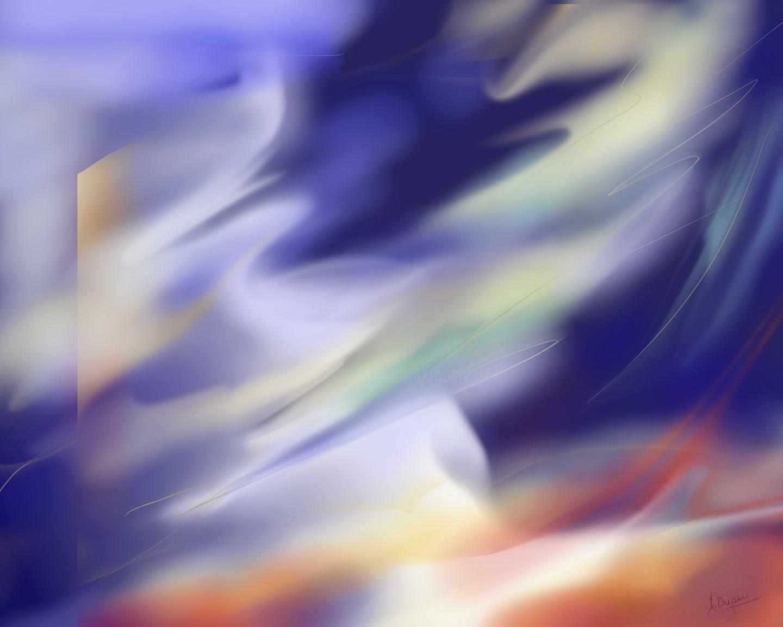 Jocelyne Dupuis (Jo Dupuis) - 'Déployer ses ailes' - 48 x 60 in.
