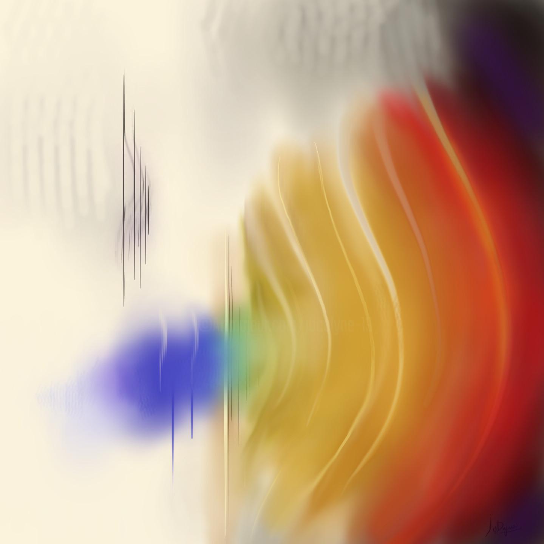 """Jocelyne Dupuis (Jo Dupuis) - """"Musical Vibes"""" - 48 x 48"""