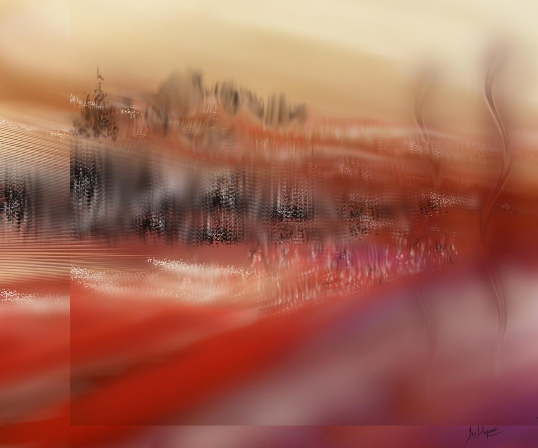 "Jocelyne Dupuis (Jo Dupuis) - ""Lots of Space""  40 x 48 in"